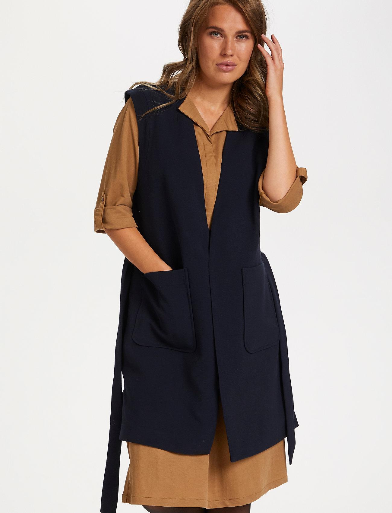 Saint Tropez - EnricaSZ Vest - knitted vests - blue deep - 0