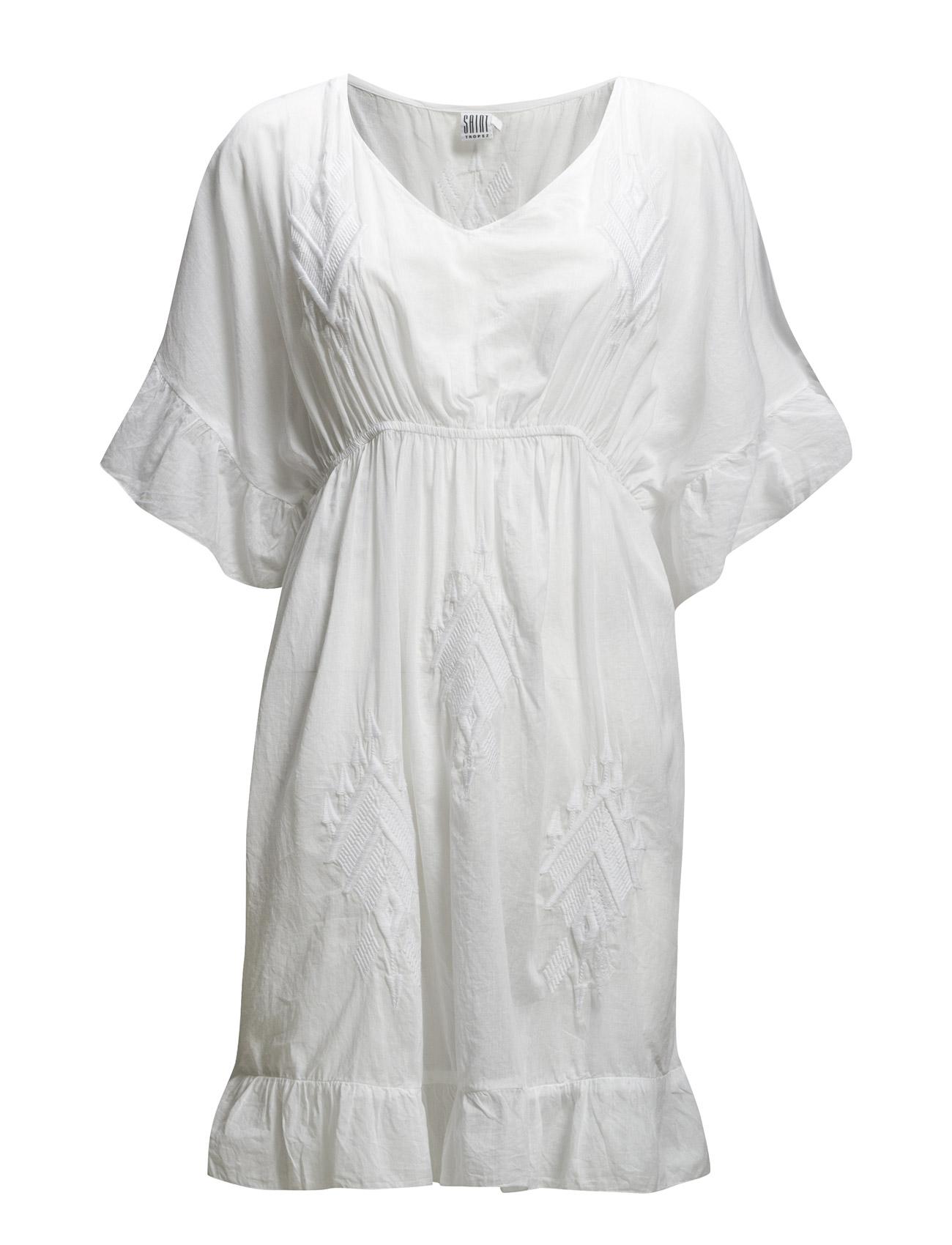 Saint Tropez EMBROIDERED DRESS - WHITE