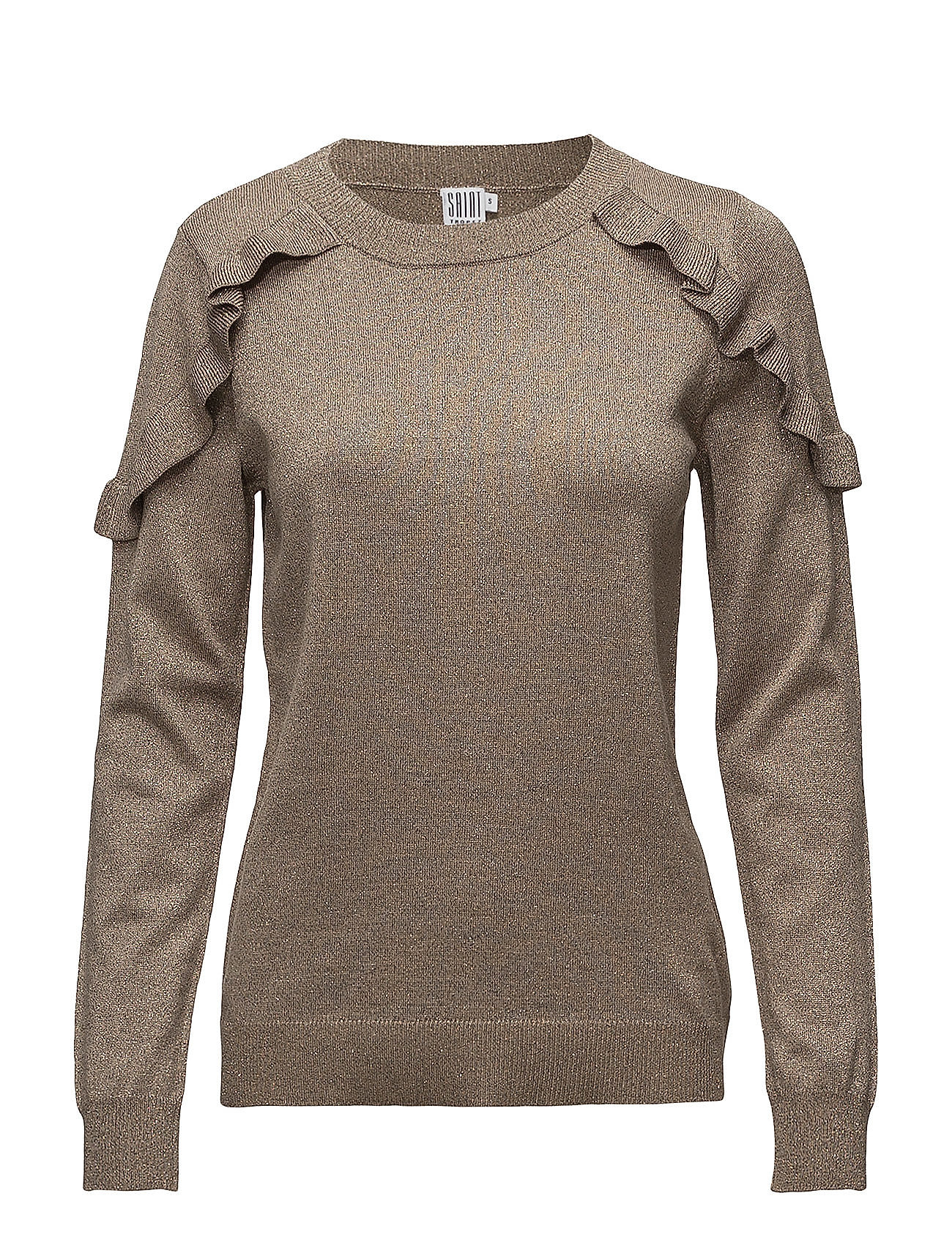 Saint Tropez GLITTER SWEATER WITH RUFFLES