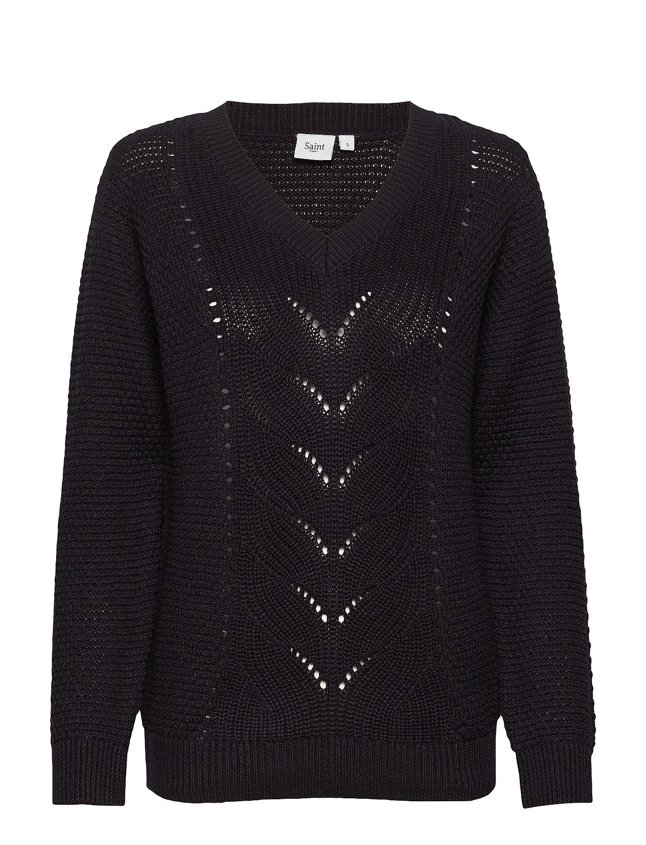 dab321303f0 Pointelle Knit Sweater ponchoer & kapper fra Saint Tropez til dame i ...