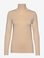 Saint Tropez - J2046, ROLL NECK SWEATER - turtlenecks - creme - 0