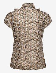 Saint Tropez - LillySZ SS Shirt - kortärmade blusar - bright white optimism florals - 2
