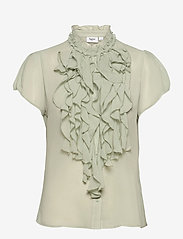 Saint Tropez - LillySZ SS Shirt - kortärmade blusar - desert sage - 1
