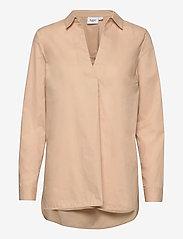Saint Tropez - BrendaSZ LS Shirt - chemises à manches longues - pebble - 1