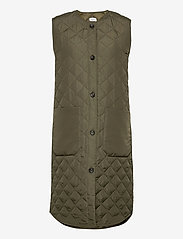 Saint Tropez - DiaraSZ Long Vest - puffer vests - army green - 0