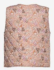 Saint Tropez - EviSZ Quilt Vest - puffer vests - taupe groven paisley - 1