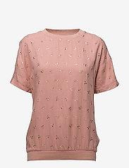 Saint Tropez - METALLIC CHERRY PRINT BLOUSE - t-shirts - b. rose - 0