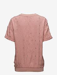Saint Tropez - METALLIC CHERRY PRINT BLOUSE - t-shirts - b. rose - 1