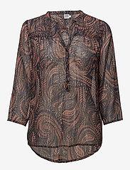 Saint Tropez - PAISLEY PRINT CHIFFON BLOUSE - blouses à manches longues - lantana - 0