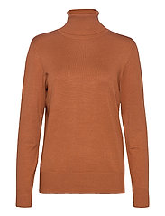J2046, ROLL NECK SWEATER - ADOBE