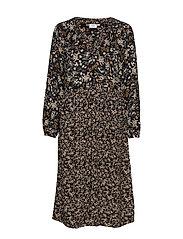 U6015, DRESS CALF WOVEN - BLACK