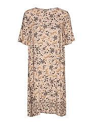 U6022, WOVEN DRESS ABOVE KNEE - ROSE D.