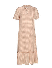 U6114, WOVEN DRESS - MAXI - ROSE D.