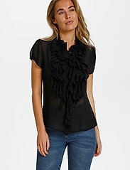 Saint Tropez - LillySZ SS Shirt - kortärmade blusar - black - 0