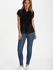 Saint Tropez - LillySZ SS Shirt - kortärmade blusar - black - 2