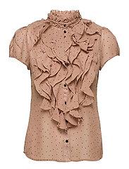 LillySZ SS Shirt - PRALINE DOT