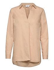 BrendaSZ LS Shirt - PEBBLE