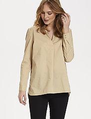 Saint Tropez - BrendaSZ LS Shirt - chemises à manches longues - pebble - 0