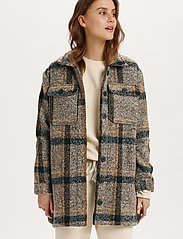 Saint Tropez - TayjaSZ LS Jacket - wool jackets - dark earth - 0