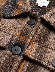 Saint Tropez - TayjaSZ LS Jacket - wool jackets - dark earth - 6