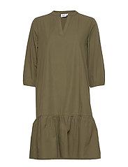 UzmaSZ 3/4 Dress - ARMY GREEN