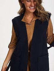Saint Tropez - EnricaSZ Vest - knitted vests - blue deep - 5