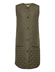 DiaraSZ Long Vest - ARMY GREEN