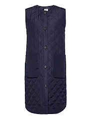 DiaraSZ Long Vest - BLUE DEEP