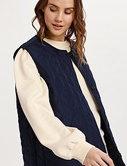 Saint Tropez - DiaraSZ Long Vest - puffer vests - blue deep - 5