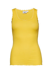 RIB TANK TOP WITH LACE - BASIC