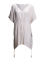 TUNIC WITH TASSELS - FLAMINGO