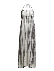 LONG PRINTED STRAP DRESS - ICE