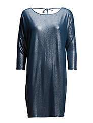 SHIMMER DRESS WITH TIE STRING - ESTATE