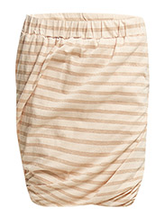 STRIPED TWISTED SKIRT - FLAMINGO