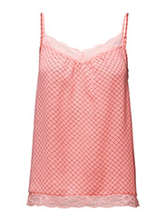 LACE SINGLET WITH PRINT - N.ROUGE