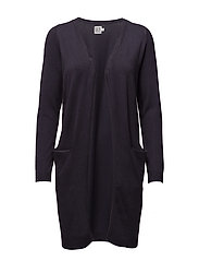 LONG CARDIGAN WITH POCKETS - GRAPHIT