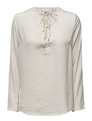 BLOUSE W LACING - ICE