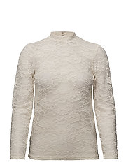 TOP WITH STRETCH LACE - ICE
