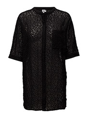 EMBROIDERY ANGLAISE TUNIC - BLACK