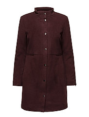WOOL COAT - CHERRY