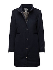 WOOL COAT - DARK INK