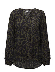 ANIMAL PRINTED BLOUSE - CACTUS