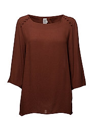 BLOUSE W BUTTONS - CHERRY M.