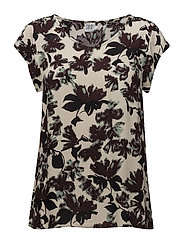 FLORAL PRINTED TOP - ICE