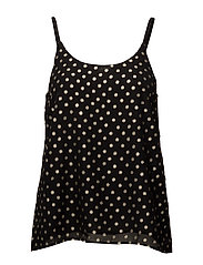 FOIL DOTTED TOP - BLACK