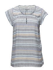 WAVED STRIPES P TOP - P.BLUE