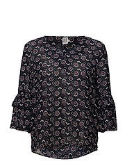 WILD FLOWER PRINT BLOUSE - BL DEEP