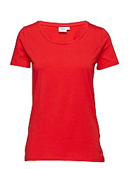 T-SHIRT WITH  ROUND NECK - LIPSTICK