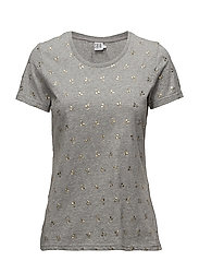 CHERRY METALLIC PRINT T-SHIRT - C. GREY M