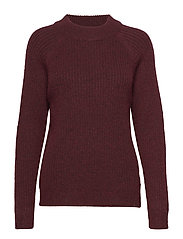 RIB KNIT SWEATER - TRUFFLE